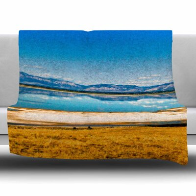 Reflection by Sylvia Coomes Fleece Blanket Size: 80 L x 60 W