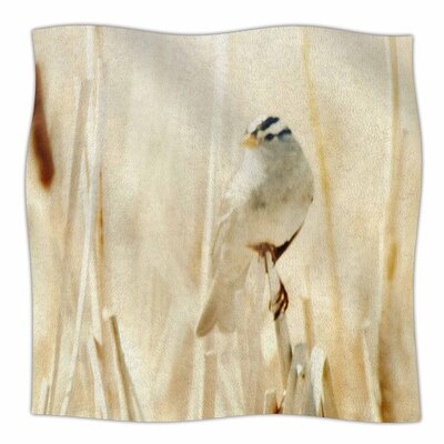 Bird in Ethereal Light by Sylvia Coomes Fleece Blanket Size: 80 L x 60 W