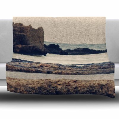Mediterranean II by Sylvia Coomes Fleece Blanket Size: 80 L x 60 W