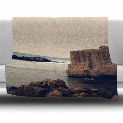 Mediterranean I by Sylvia Coomes Fleece Blanket Size: 80 L x 60 W