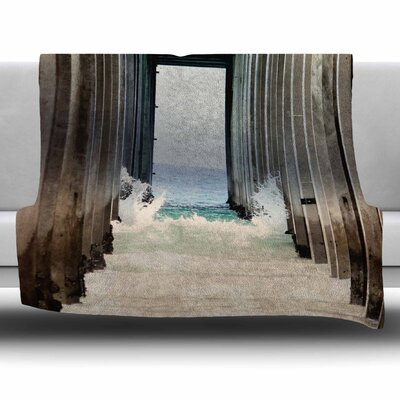 Under The Pier by Sylvia Coomes Fleece Blanket Size: 80 L x 60 W