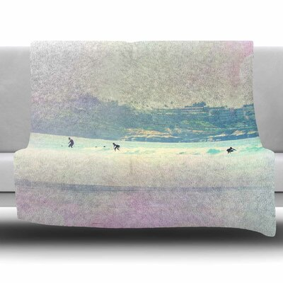 Rainbow I by Sylvia Coomes Fleece Blanket Size: 80 L x 60 W