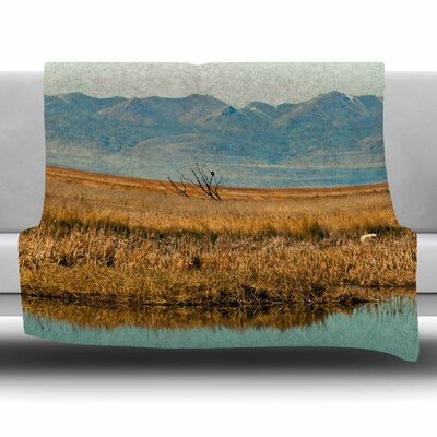 Reflective Landscape by Sylvia Coomes Fleece Blanket Size: 80 L x 60 W