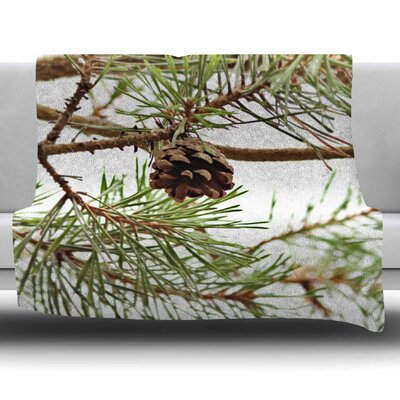 Pinecone by Sylvia Coomes Fleece Blanket Size: 80 L x 60 W
