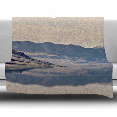 Reflective 2 by Sylvia Coomes Fleece Blanket Size: 80 L x 60 W