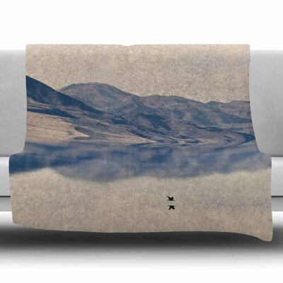 Reflective 1 by Sylvia Coomes Fleece Blanket Size: 80 L x 60 W