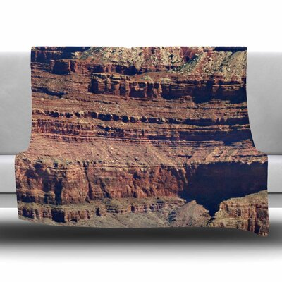 Grand Canyon Landscape 1 by Sylvia Coomes Fleece Blanket Size: 80 L x 60 W