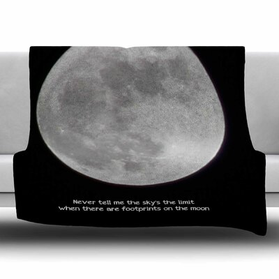The Moon by Sylvia Coomes Fleece Blanket Size: 80 L x 60 W