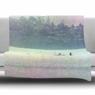 Rainbow 3 by Sylvia Coomes Fleece Blanket Size: 80 L x 60 W