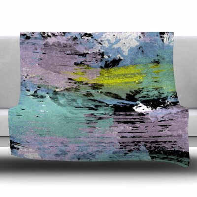 Watercolor Texture by Vasare Nar Fleece Blanket Size: 80 L x 60 W