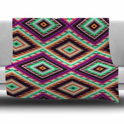 Boho Gipsy by Vasare Nar Fleece Blanket Size: 80 L x 60 W