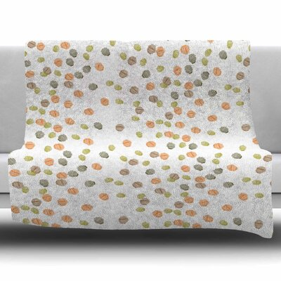 Autumn Spots by Yenty Jap Fleece Blanket Size: 80 L x 60 W