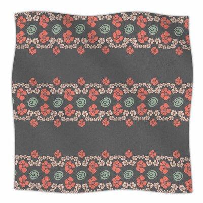 Flora Formations by Zara Martina Mansen Fleece Blanket Size: 80 L x 60 W