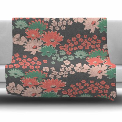 Natures Bouquet by Zara Martina Mansen Fleece Blanket Size: 80 L x 60 W