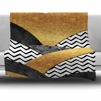 Chevron Hills by Zara Martina Mansen Fleece Blanket Size: 80 L x 60 W