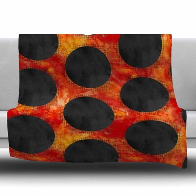 Volcanic Black Holes by Zara Martina Mansen Fleece Blanket Size: 80 L x 60 W