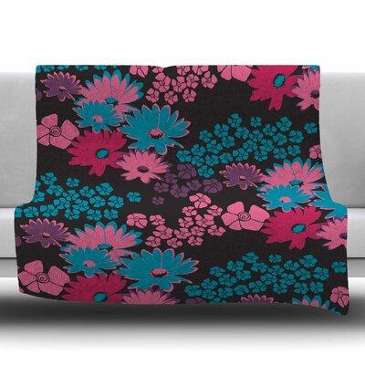 Berry Color Bouquet by Zara Martina Mansen Fleece Blanket Size: 80 L x 60 W