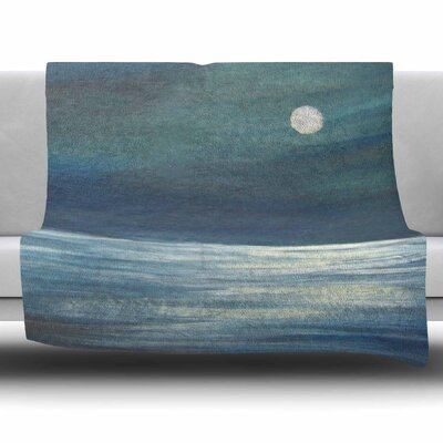 A Walk in The Moonlight by Cyndi Steen Fleece Blanket Size: 80 L x 60 W