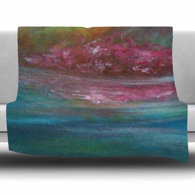 Boungainvillea Reflections by Cyndi Steen Fleece Blanket Size: 80 L x 60 W