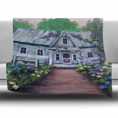 Ivy Cottage Again by Cyndi Steen Fleece Blanket Size: 80 L x 60 W