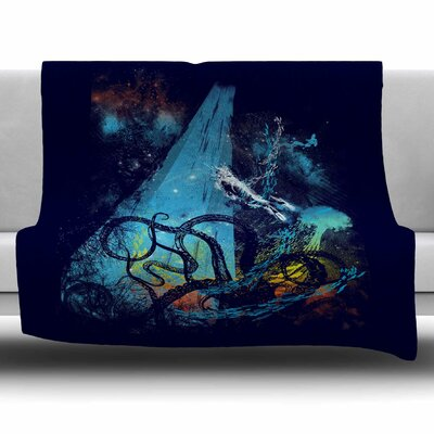 Danger from the Deep by Frederic Levy-Hadida Fleece Blanket Size: 80 L x 60 W