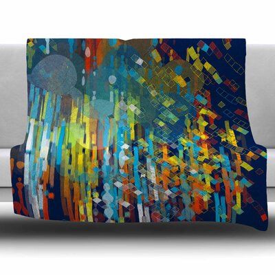Color Fall by Frederic Levy-Hadida Fleece Blanket Size: 80 L x 60 W