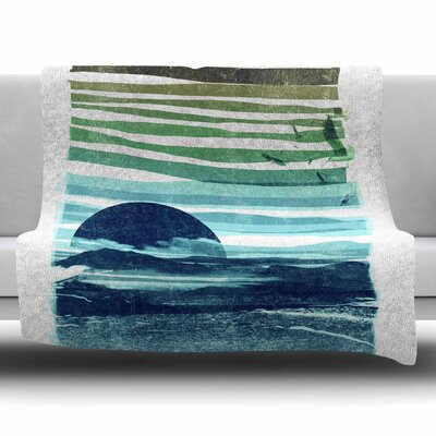 Sea Scape by Frederic Levy-Hadida Fleece Blanket Size: 80 L x 60 W