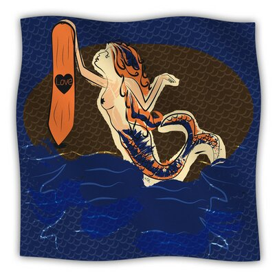 Mermaid by Famenxt Fleece Blanket Size: 80 L x 60 W