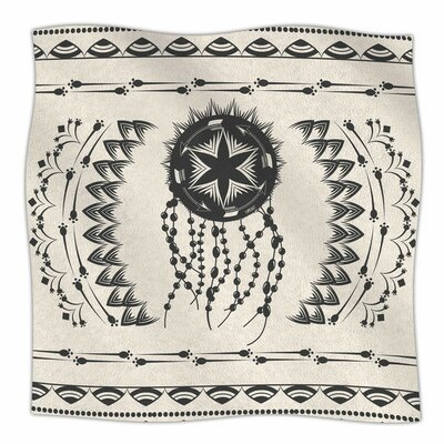 Bohemian Dream Catcher Boho by Famenxt Fleece Blanket Size: 80 L x 60 W