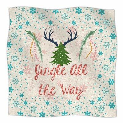 Jingle All The Way by Famenxt Fleece Blanket Size: 80 L x 60 W