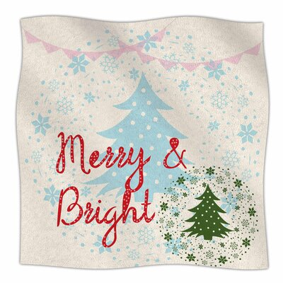 Merry And Bright by Famenxt Fleece Blanket Size: 80 L x 60 W