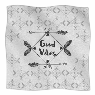 Boho Good Vibes by Famenxt Fleece Blanket Size: 80 L x 60 W