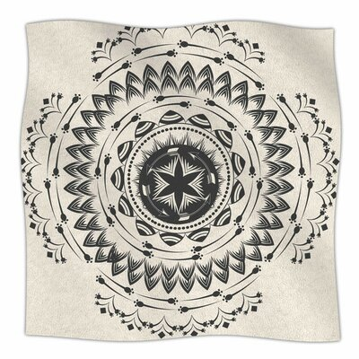Boho Tribe Mandala by Famenxt Fleece Blanket Size: 80 L x 60 W