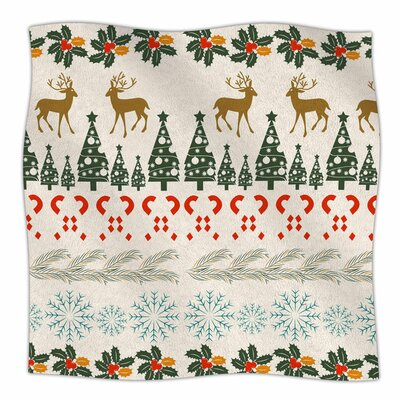 Christmas Vibes by Famenxt Fleece Blanket Size: 80 L x 60 W