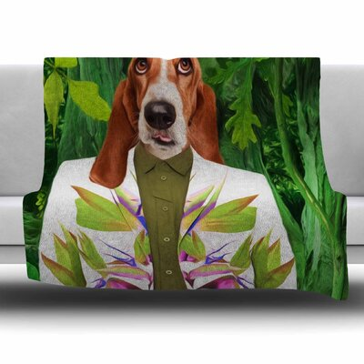 Into The Leaves N5 by Natt Fleece Blanket Size: 80 L x 60 W