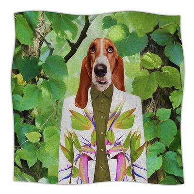 Into The Leaves N6 by Natt Fleece Blanket Size: 80 L x 60 W
