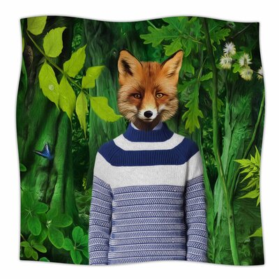 Into The Leaves N7 by Natt Fleece Blanket Size: 80 L x 60 W