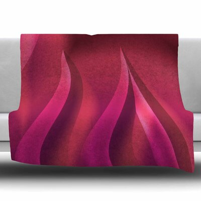 Petals in Pink by Fotios Pavlopoulos Fleece Blanket Size: 80 L x 60 W