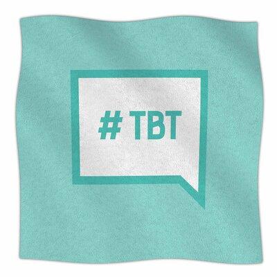 Throw Back Thursday Fleece Blanket Size: 80 L x 60 W