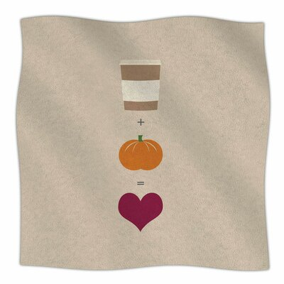 Pumpkin Spice Latte Fleece Blanket Size: 80 L x 60 W