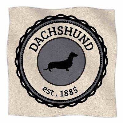 Dachshund Fleece Blanket Size: 80 L x 60 W