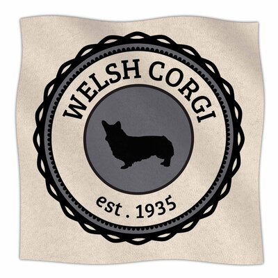 Welsh Corgi Fleece Blanket Size: 80 L x 60 W