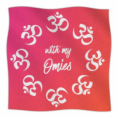 With My Omies Fleece Blanket Size: 80 L x 60 W