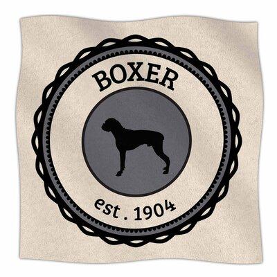 Boxer Fleece Blanket Size: 80 L x 60 W