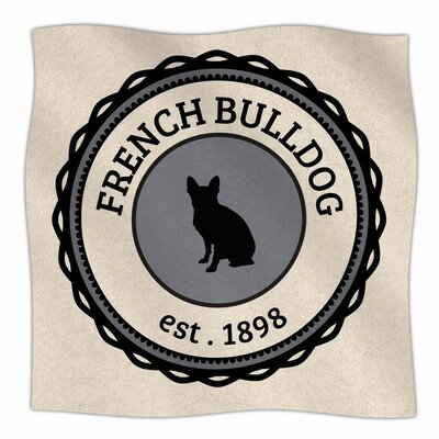 French Bulldog Fleece Blanket Size: 80 L x 60 W