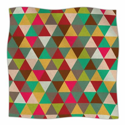 Autumn Triangle Spectrum Fleece Blanket Size: 80 L x 60 W