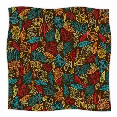 Leaves All Around Fleece Blanket Size: 80 L x 60 W