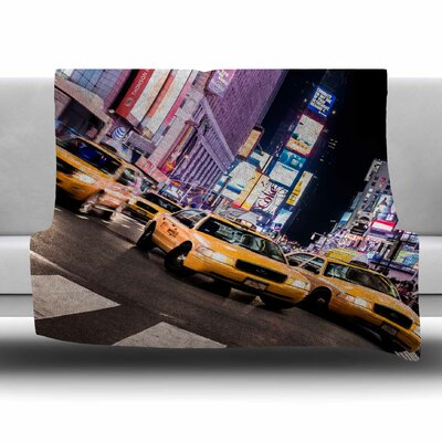 Rush Hour by Juan Paolo Fleece Blanket Size: 80 L x 60 W