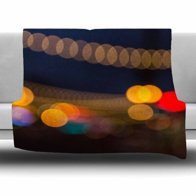 Tremont Bokeh by Juan Paolo Fleece Blanket Size: 80 L x 60 W
