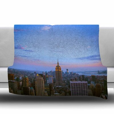 Empire State Of Mind by Juan Paolo Fleece Blanket Size: 80 L x 60 W